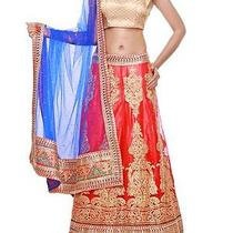 Zeeia Intricate Metallic Embroide Blush Metallic Net Lehenga With Dupatta Blouse Photo