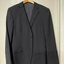 Zegna Stripes  Black Wool  Blazer  Coat /jackets-Size 40 Reg  Photo