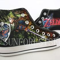Zelda/converse/hand Painted Shoes/canvas Shoes Photo