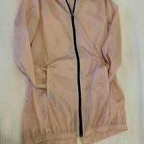 Zella Girls Long Rain Coat Size L 10/12 Youth Light Pink/ Blush Photo