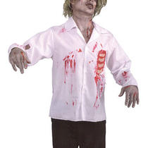 Zombie Bloody Shirt & Ribs Halloween Fancy Dress Photo