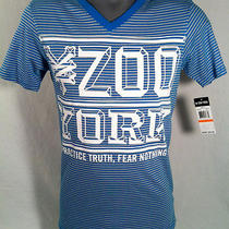 Zoo York Aqua Blue Premium v Necktee Shirt Sz 2xl Brand New With Tags Photo