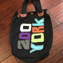 Zoo Yorkmarket Tote Bag 100% Cotton Black Linedexcellent Condition  Photo