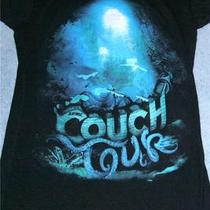 Zumiez Couch Tour Black T-Shirtsize Sblue and Aqua Design Front and Back Photo
