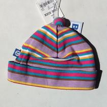 Zutano Blue Infant Girl's Beenie Hat Striped Pattern One Size Nwt Photo