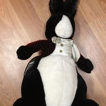Applause 1986 Black and White Bunny Rabbit in Tuxedo & Bow Tie Large Plush 20