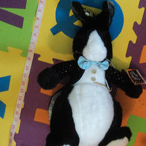 Big Vintage Applause 1986 After 8 Rabbit Black Tuxedo Tails Plush Stuffed Animal Photo