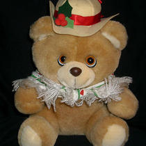 Vintage 1986 Applause  21023 Hollybeary Teddy Girl Stuffed Animal Plush Toy Hat Photo