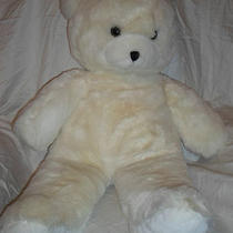 White Teddy Bear Vintage Applause 1986 Huge Plush Soft Toy Stuffed Animal 35